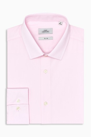 Light Pink Slim Fit Single Cuff Easy Care Shirt