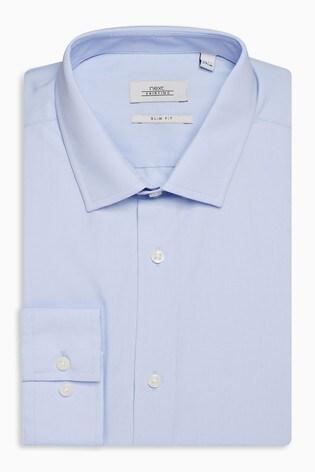 Light Blue Slim Fit Single Cuff Easy Care Shirt