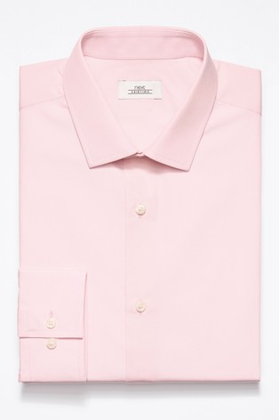 Light Pink Regular Fit Single Cuff Easy Care Shirt