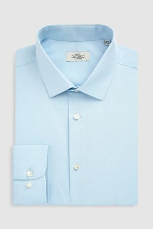 Light Blue Regular Fit Single Cuff Cotton Shirt
