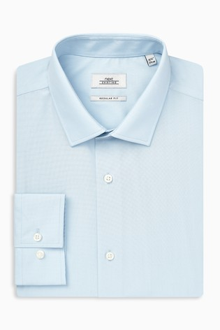 Light Blue Regular Fit Single Cuff Easy Care Shirt