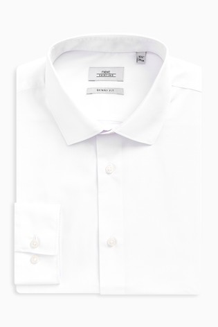 White Skinny Fit Single Cuff Easy Care Shirt