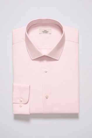 Light Pink Regular Fit Single Cuff Cotton Shirt