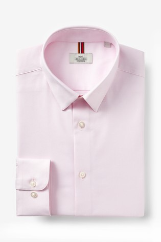 Pink Slim Fit Single Cuff Cotton Stretch Motion Flex Shirt