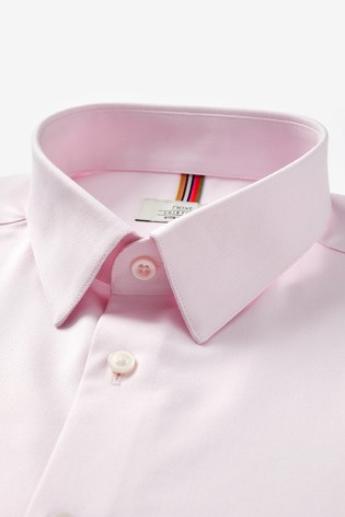 Pink Slim Fit Single Cuff Cotton Stretch Motion Flex Shirt