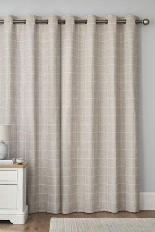 Windowpane Check Eyelet Curtains
