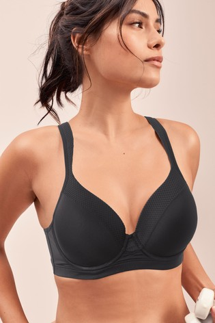 Black High Impact Full Cup Underwired Sports Bra
