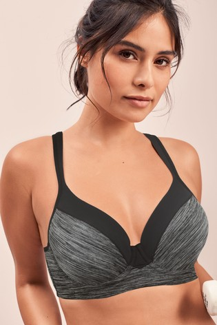 Grey Marl High Impact Full Cup Underwired Sports Bra