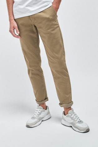 Tan Slim Fit Motionflex Stretch Chino Trousers