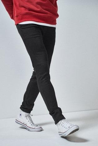 Black Skinny Fit Motion Flex Stretch Chino Trousers