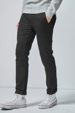 Black Slim Fit Motionflex Stretch Chino Trousers