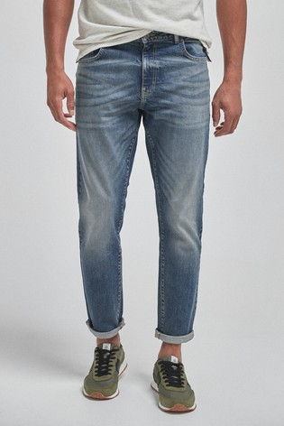 Mid Blue Slim Fit Soft Touch Jeans With TENCEL™
