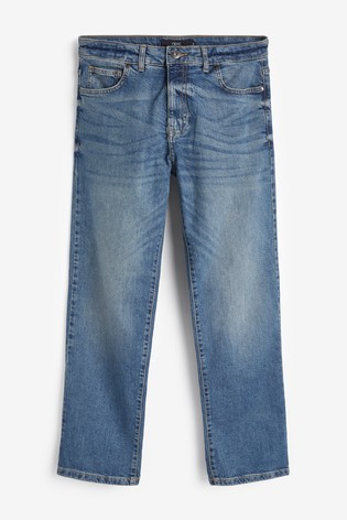 Mid Blue Straight Fit Soft Touch Jeans With TENCEL™