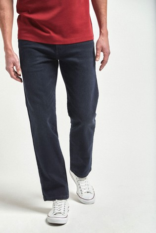 Dark Blue Straight Fit Soft Touch Jeans With TENCEL™