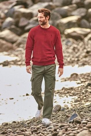 Red Crew Sweatshirt Jersey