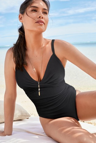 Black Shape Enhancing Swimsuit