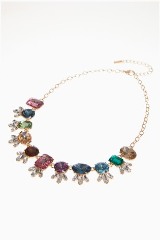 Rainbow Jewelled Necklace