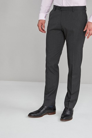 Charcoal Slim Fit Stretch Formal Trousers
