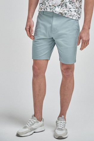 Light Blue Straight Fit Stretch Chino Shorts