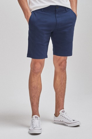Royal Blue Slim Fit Stretch Chino Shorts