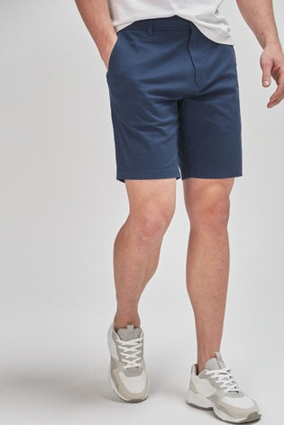 Royal Blue Straight Fit Stretch Chino Shorts