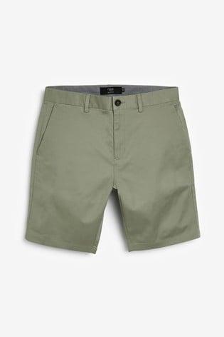 Sage Slim Fit Stretch Chino Shorts
