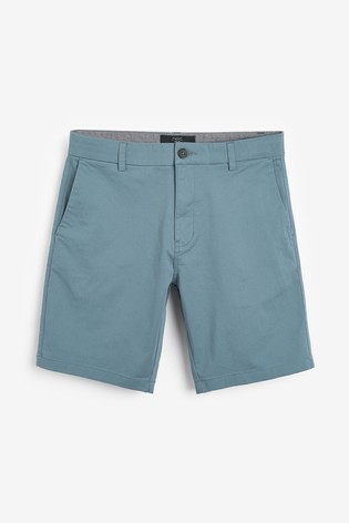 Blue Slim Fit Stretch Chino Shorts