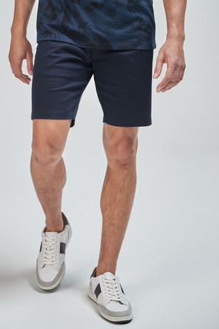 Navy Slim Fit Stretch Chino Shorts
