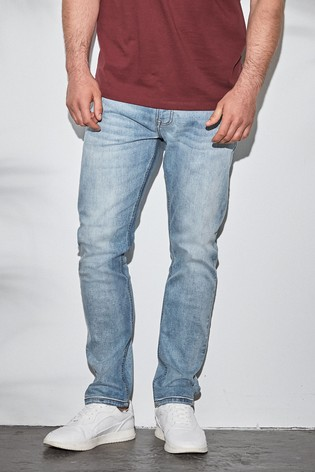 Light Blue Slim Fit Slim Fit Jeans With Stretch