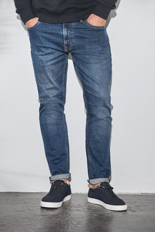 Dark Blue Slim Fit Slim Fit Jeans With Stretch