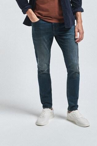 Dirty Denim Skinny Fit Jeans With Stretch