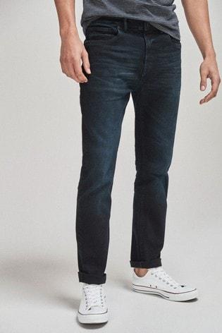 Blue/Black Wash Slim Fit Jean With Stretch