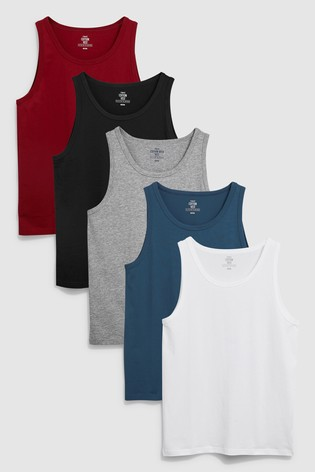 Burgundy Mixed Vests Five Pack