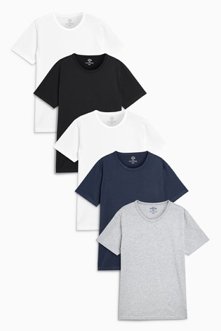 Multi T-Shirts Five Pack