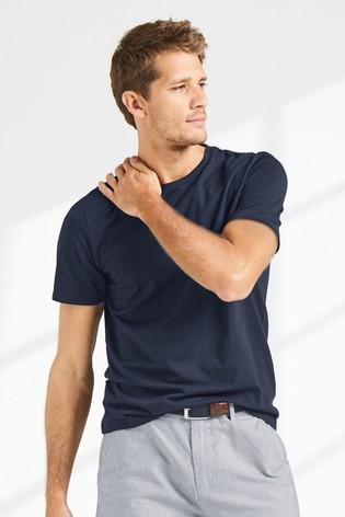 Navy Regular Fit Crew Neck T-Shirt