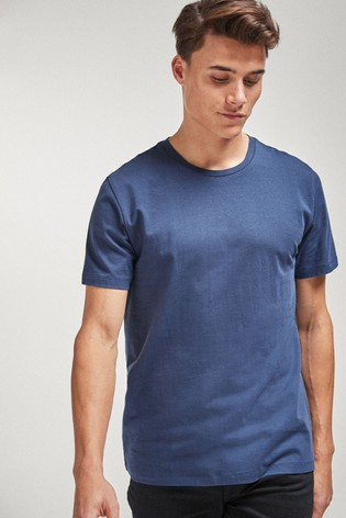 Denim Blue Regular Fit Crew Neck T-Shirt