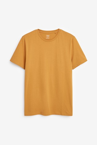 Ochre Regular Fit Crew Neck T-Shirt