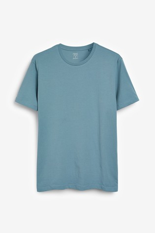 Pale Blue Regular Fit Crew Neck T-Shirt