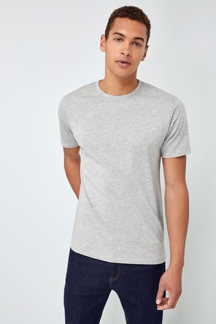 Grey Marl Regular Fit Crew Neck T-Shirt