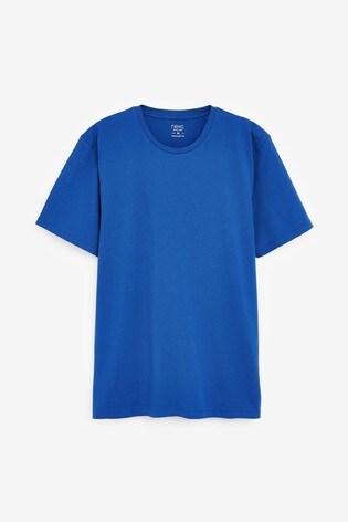 Bright Blue Regular Fit Crew Neck T-Shirt