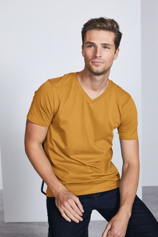Ochre Regular Fit V-Neck T-Shirt