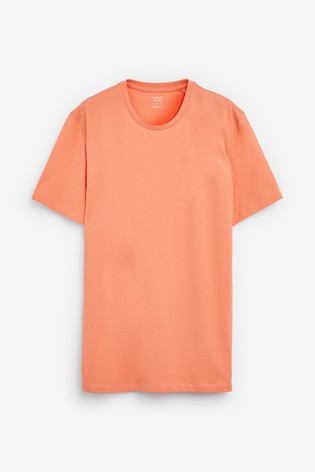 Orange Regular Fit Crew Neck T-Shirt