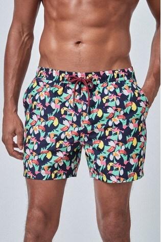 Mint Toucan Print Swim Shorts