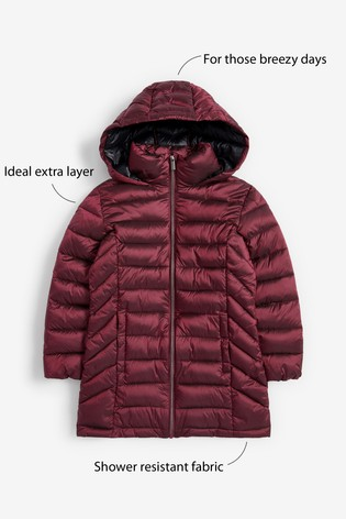 Berry Shower Resistant Lightweight Padded Jacket (3-16yrs)
