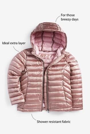 Toffee Shower Resistant Lightweight Short Padded Jacket (3-16yrs)