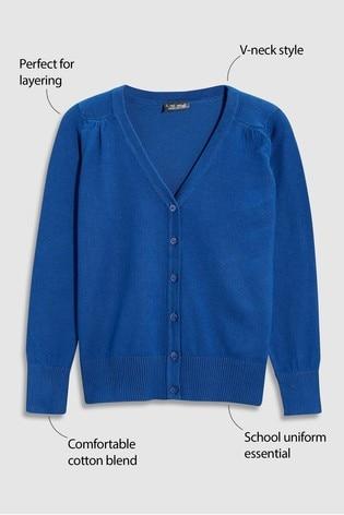 Blue V-Neck Cardigan (3-16yrs)