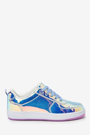 Iridescent Lace-Up Trainers (Older)