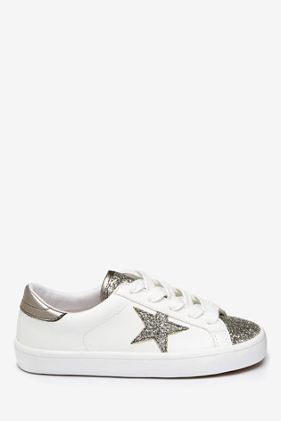 White Star Lace-Up Trainers (Older)