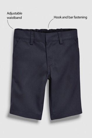 Navy Flat Front Shorts (3-12yrs)