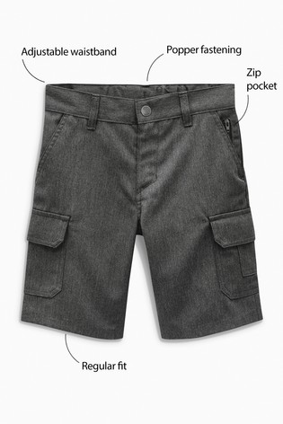 Grey Combat Shorts (3-12yrs)